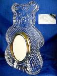 Click here to enlarge image and see more about item C0808200904: Waterford Crystal Teddy Bear Photo Picture Frame