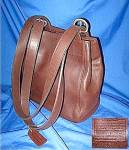 Coach Dark Brown Leather Bag