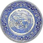 Blue Rowland &. Marsellus Blue Transfer 8 In. Bowl Staf
