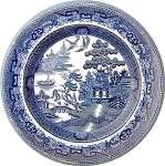 Flow Blue dinner plate Bisto England FWB 9 1/2 in
