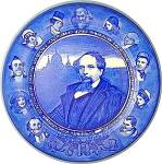 Royal Doulton Charles Dickens Flow Blue Plate 10 1/4 in
