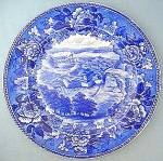 Wedgwood Flow Blue Plate- Fort Ticonderoga 10 in.