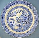 Staffordshire English Ironstone Willow Dinner Plates 6