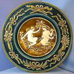 Majolica Austrian Charger Platter Neptune Nymph 12 in