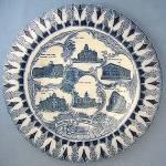 Click here to enlarge image and see more about item C09280803: Blue & White Souvenir Plate Denver Colorado