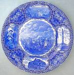 Click here to enlarge image and see more about item C09280806: Staffordshire Battle of New Orleans Collectors Plate Bl