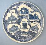 Click here to enlarge image and see more about item C09280807: Porcelain Blue Souvenir  Denver Colorado Plate
