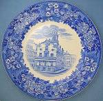 Wedgwood Blue Transfer Old State House Boston plate