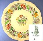 Royal Doulton Stratford D6196 10 1/2 Inch Flower  Plate