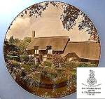Click here to enlarge image and see more about item C1011200811: Royal Doulton, Anne Hathaway's Cottage plate