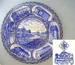 Click here to enlarge image and see more about item C1012200803: Chicago Flow Blue Souvenir Collector's Staffordshire  P