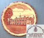 Click here to enlarge image and see more about item C1012200810: Mount Vernon souvenir plate by Adams Potteries England