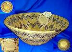 Click here to enlarge image and see more about item C1122200802: Shalimar handwoven Basket Pakistan Large
