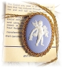 Click to view larger image of Brooch Pendant 12K GF Blue Wedgwood Cupid (Image2)