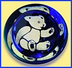 "Caithness Glass: ""Teddy"" paperweight"