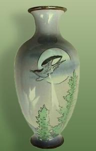 Silver wire Cloisonné on porcelain vase (Image1)