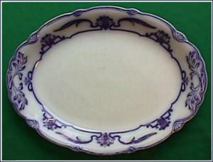 Flow Blue: LOTUS large platter (Image1)