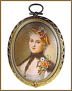 Painting On Ivory Of A Lady