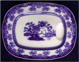 Flow Blue: CHUSAN well&tree platter (Wedgwood) (Image1)
