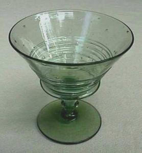Steuben Spanish Green reeded compote (Image1)