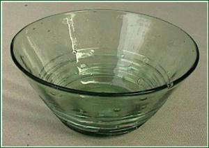 Steuben Spanish Green  reeded bowl (Image1)