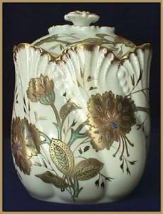 Limoges biscuit jar (Image1)