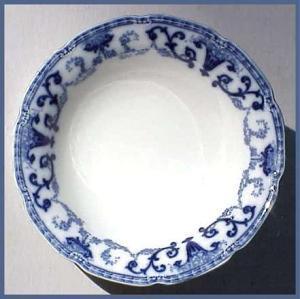 Flow Blue: DENTON bowl (W.H. Grindley) (Image1)