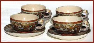 Satsuma cups and saucers (set of 4) (Image1)