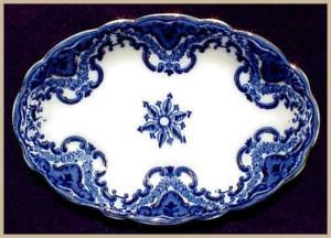 Flow Blue: KNOX platter (Grindley) (Image1)