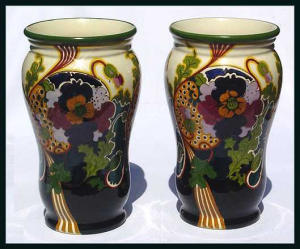 Gouda: Pair of large Ivora vases (Image1)