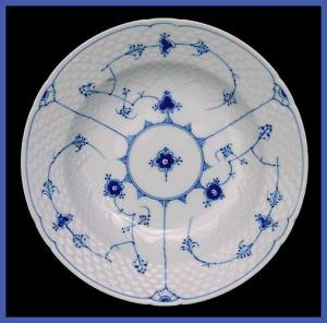 Bing and Grondahl  Blue Traditional soup bowl (Image1)