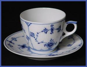 Royal Copenhagen Blue Fluted cup and saucer (Image1)