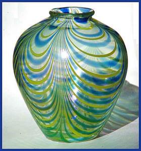 B. Caldwell:  Art nouveau art glass vase (Image1)