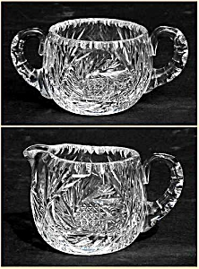 Kraft 1950: RARE Cut glass sugar and creamer set (Signed) (Image1)
