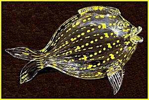 Kraft 1949: Yellow dotted artglass fish (Image1)