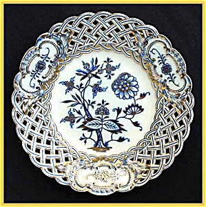 Meissen hand-paint gilded reticulated plate (Image1)