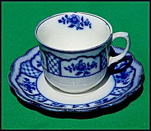 Flow Blue: MELBOURNE cup and saucer (Image1)