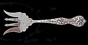 Sterling silver sardine fork (DAFFODIL, Baker Manchester) (Image1)