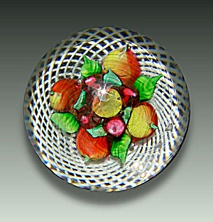 Antique New England Glass Company fruit paperweight (Image1)