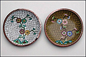 Matching pair of small cloisonne  dishes (Image1)