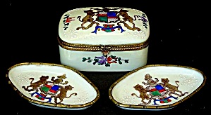 French enamel box and small trays (Image1)