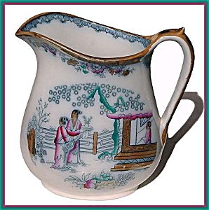 Early Staffordshire polychrome large pitcher (Image1)