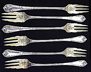 Sterling silver set of cocktail forks (RUSTIC, Towle ) (Image1)