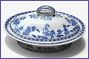 Flow Blue: DELFT covered server  (Mintons) (Image1)