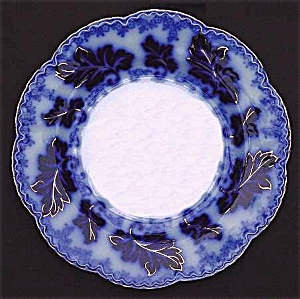 Flow Blue: NORMANDY dinner plate (Image1)
