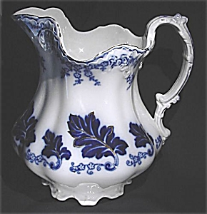 Flow Blue: NORMANDY large water pitcher (Image1)