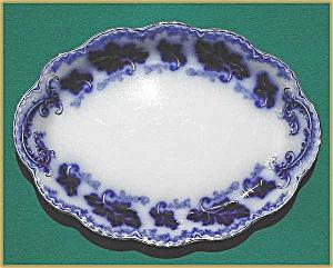 "Flow Blue: NORMANDY platter (14"") (Image1)"
