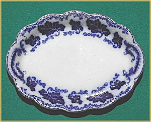 "Flow Blue: NORMANDY platter (12½"") (Image1)"