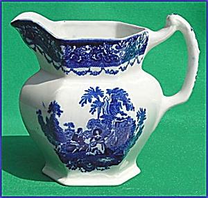 Flow Blue: WATTEAU pitcher (Image1)