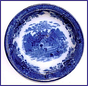 Flow Blue: COUNTRY SCENES serving bowl (Image1)